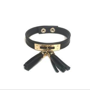 Faux Leather Tassel Bracelet